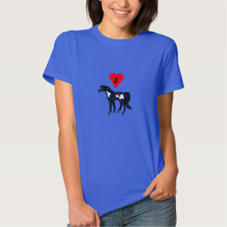 I Heart Pinto Horse Woman's T-shirt