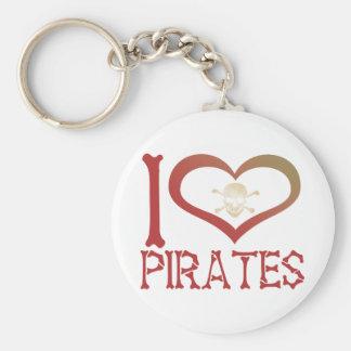 I Heart Pirates Keychain