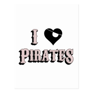 i heart pirates postcard