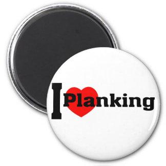 I (Heart) Planking 6 Cm Round Magnet