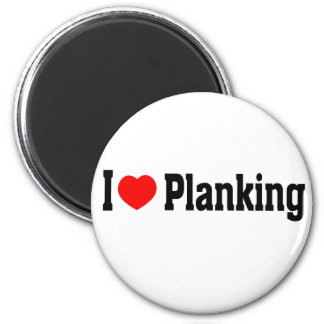 I (Heart) Planking Magnet