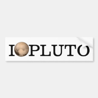 I Heart Pluto New Horizon Bumper Sticker