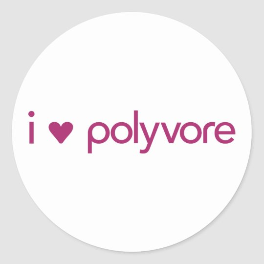 I Heart Polyvore Stickers - Pink