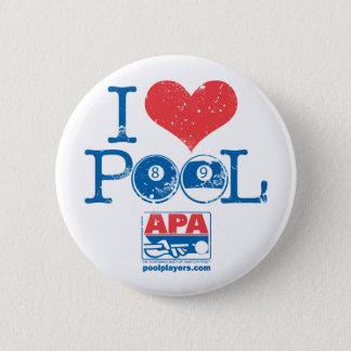 I Heart Pool 6 Cm Round Badge