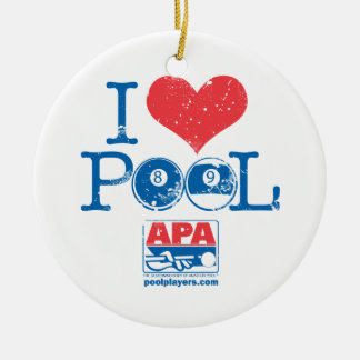 I Heart Pool Christmas Ornament