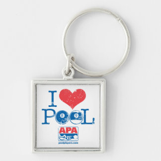 I Heart Pool Key Ring