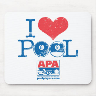 I Heart Pool Mouse Mat