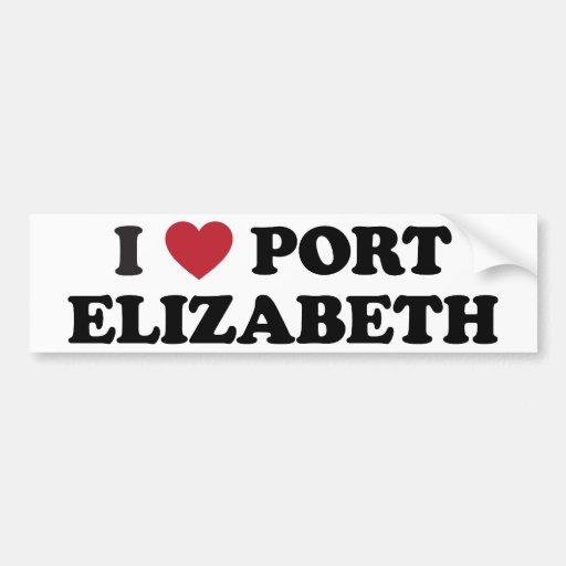 I Heart Port Elizabeth South Africa Bumper Stickers