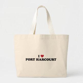 I Heart Port Harcourt Nigeria Jumbo Tote Bag