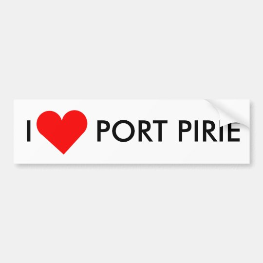 I Heart Port Pirie Bumper Sticker