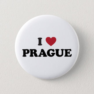 I Heart Prague Czech Republic 6 Cm Round Badge