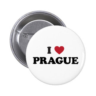I Heart Prague Czech Republic 6 Cm Round Badge