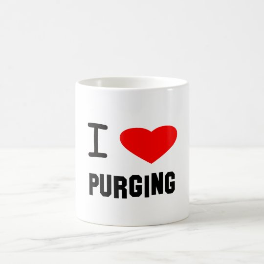 I Heart purging Coffee Mug