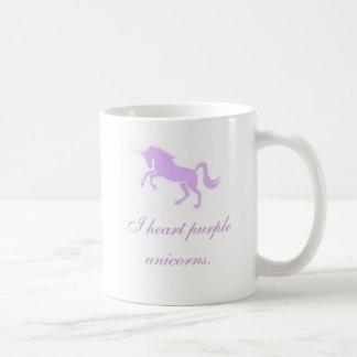 I heart purple unicorns. classic white coffee mug