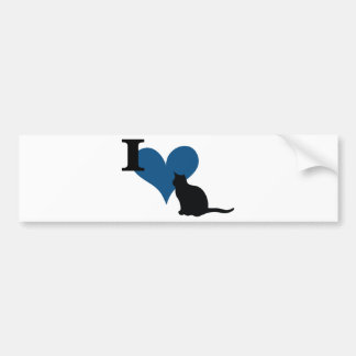 I Heart Pussy Cat Bumper Sticker