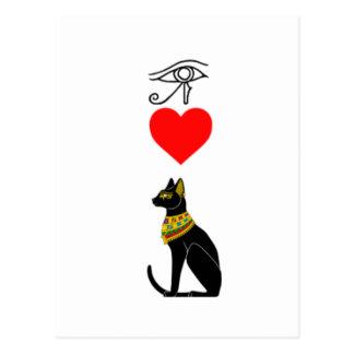I Heart Pussy_Cat, Egyptian Hieroglyphics Postcard
