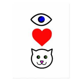 I Heart Pussy_Cattoon Postcard