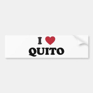 I Heart Quito Ecuador Bumper Sticker