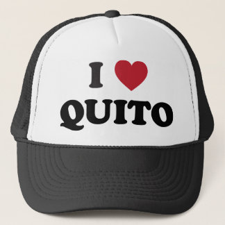 I Heart Quito Ecuador Trucker Hat