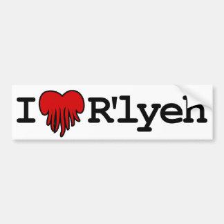 I Heart R lyeh Bumper Stickers