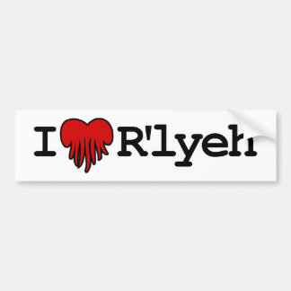 I Heart R lyeh Bumper Sticker