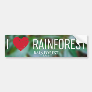 I Heart Rainforest Bumper Sticker