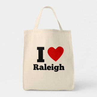 I Heart Raleigh Grocery Tote Bag