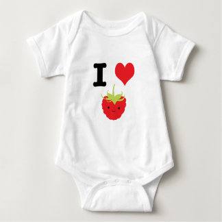 I Heart Raspberries Baby Bodysuit