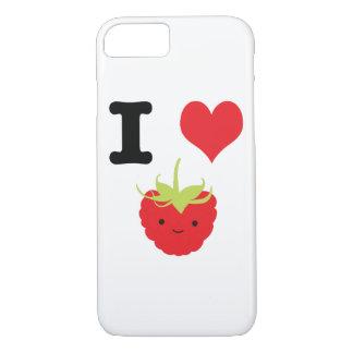 I Heart Raspberry iPhone 7 Case