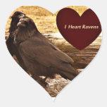 I heart ravens heart sticker