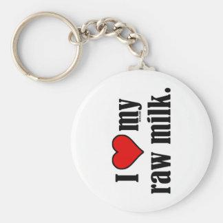 I Heart Raw Milk Key Ring