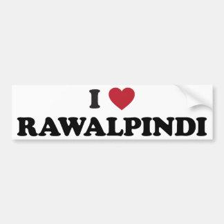 I Heart rawalpindi Pakistan Bumper Sticker