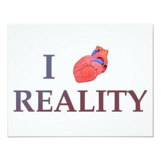 I Heart Reality Custom Invites