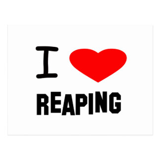 I Heart reaping Postcard