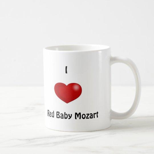 I Heart Red Baby Mozart Coffee Mug