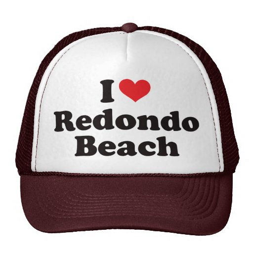 I Heart Redondo Beach Mesh Hats