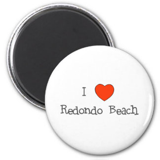 I Heart Redondo Beach 6 Cm Round Magnet