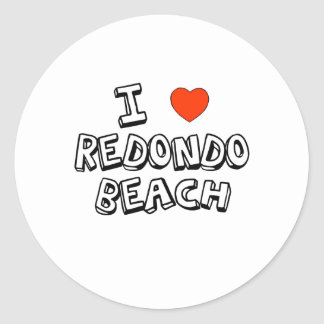 I Heart Redondo Beach Round Sticker
