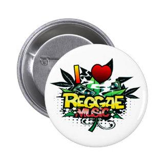 I Heart Reggae Music 6 Cm Round Badge