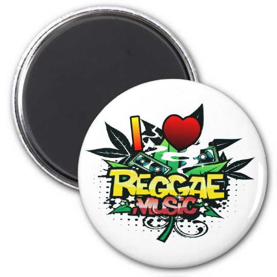 I Heart Reggae Music Magnet