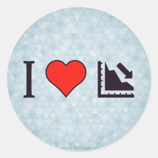 I Heart Regression Round Sticker