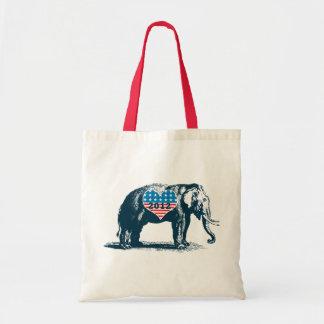 I Heart Republicans Vintage GOP Tea Party Tote Bags