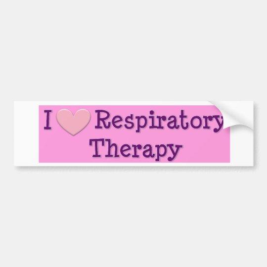 I heart Respiratory Therapy Bumper Sticker