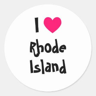 I Heart Rhode Island Classic Round Sticker