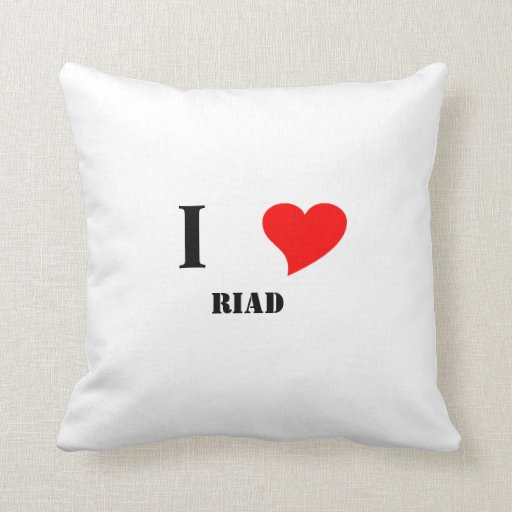 I heart RIAD Throw Pillow