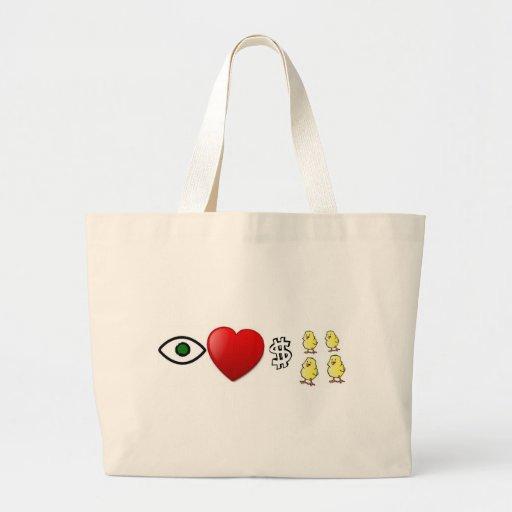 I Heart Rich Chicks Bag