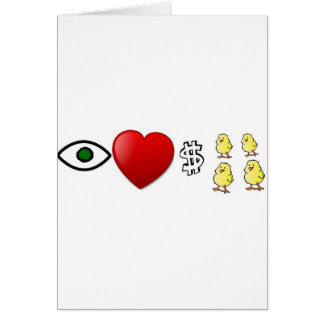 I Heart Rich Chicks Cards