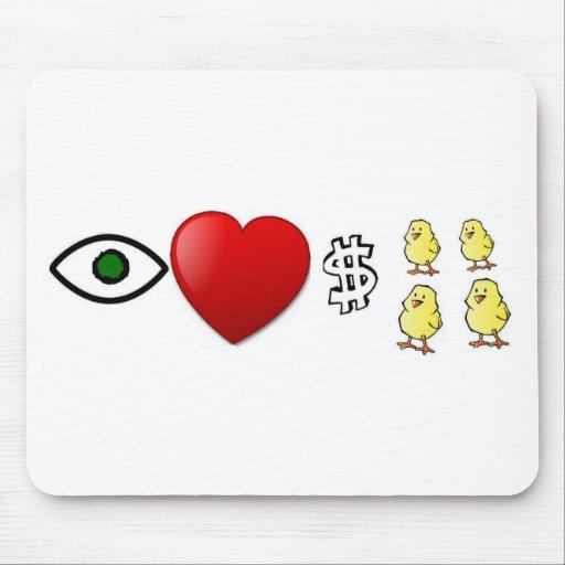 I Heart Rich Chicks Mousepads