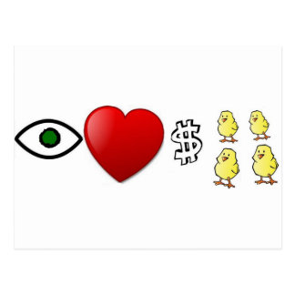 I Heart Rich Chicks Postcard