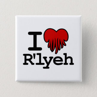 I Heart R'lyeh 15 Cm Square Badge
